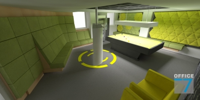 tudor game room - render 3