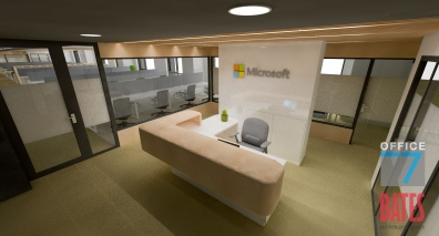 microsoft reception office design