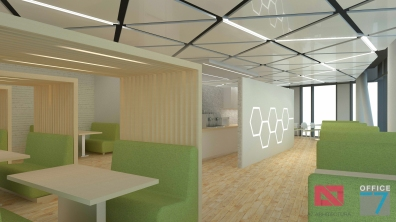 thales office design cafeteria