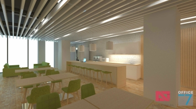 thales office cafeteria design