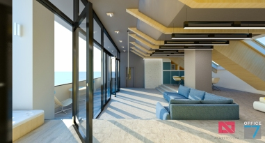 apartament mansarda hotel design