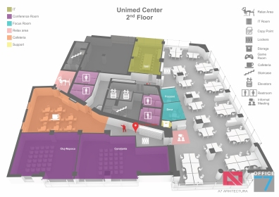 microsoft tudor office design 3D map